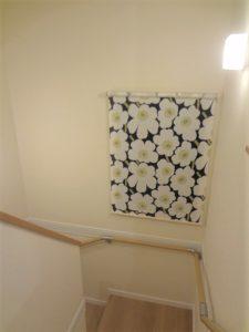 半畳の踊り場のある折り返し階段