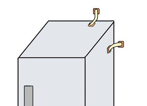 冷蔵庫転倒防止ベルトの設置のしかた