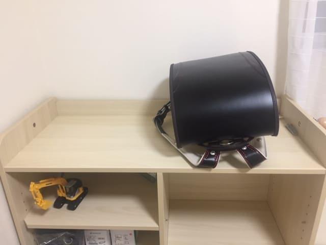 子供部屋のデスク付き収納はランドセルラックにも使える